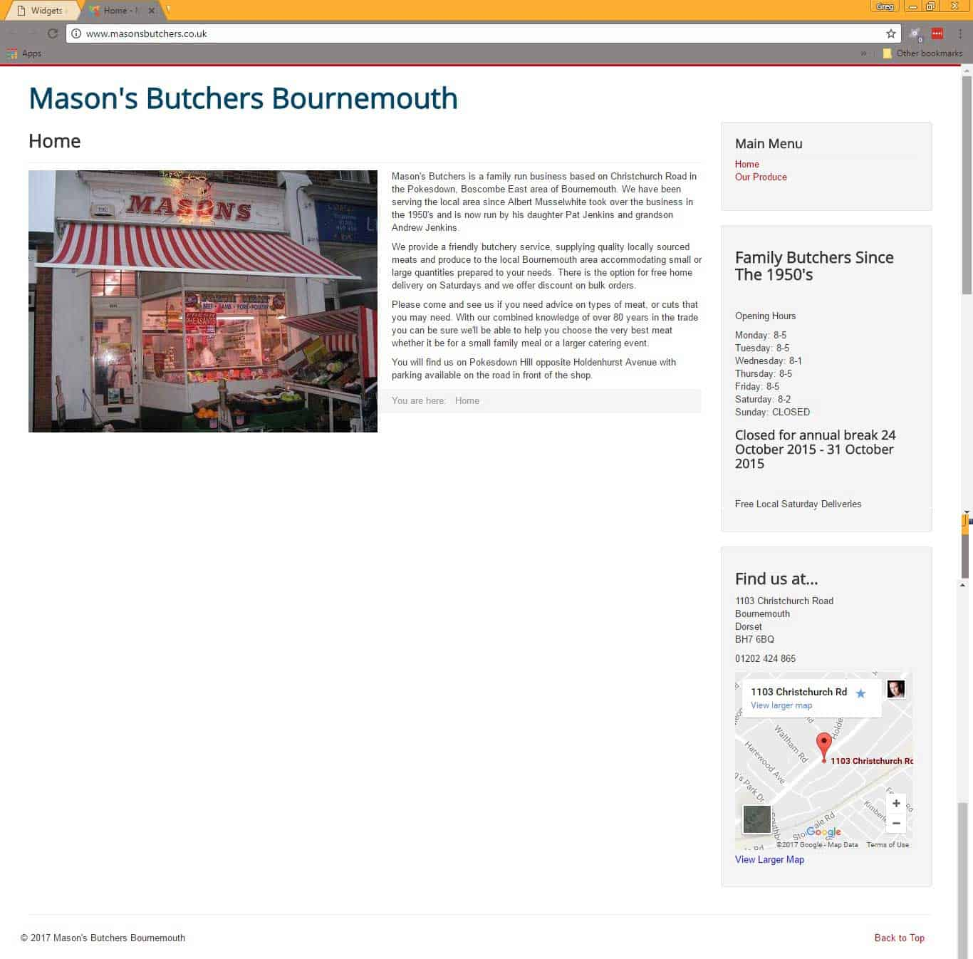masons butchers-website- invest in your website review